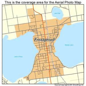 aerial photography map of frostproof fl florida
