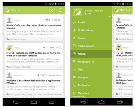 android forum le forum frandroid en application android avec tapatalk frandroid
