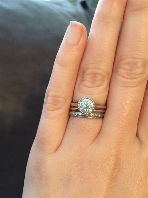 wedding rings pictures bezel engagement wedding ring band