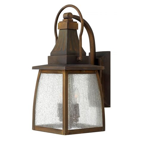 Traditional Outdoor Wall Lantern In Solid Brass With Rust Traditional Outdoor Lights