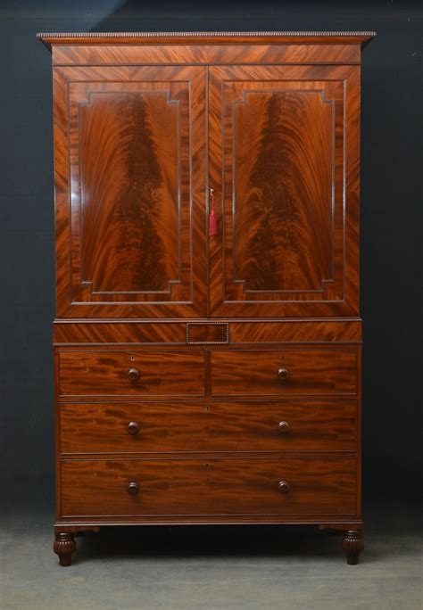 regency mahogany linen press antiques atlas