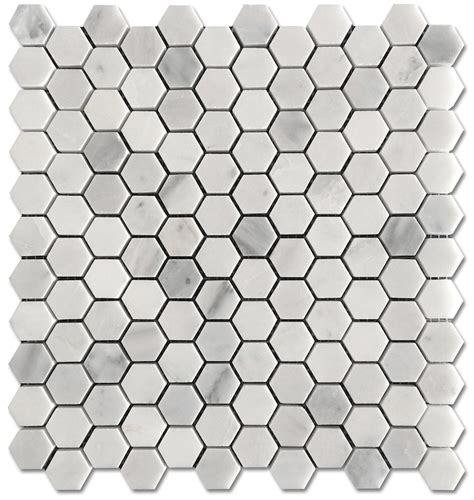 1 Mosaic Floor Tile - carrara pietra hexagon honed 1 quot mosaic floor and wall tile