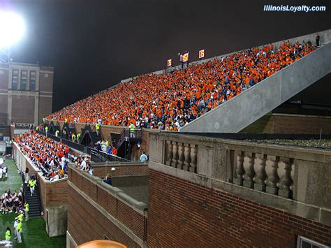 illinois student section which college football fields have never been stormed or