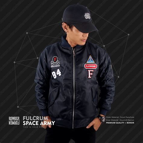 Jaket Bomber Fulcrum For jual jaket bomber fulcrum space army