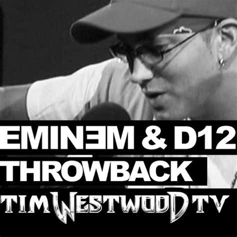 eminem freestyle lyrics eminem freestyle never heard before with d12 throwback