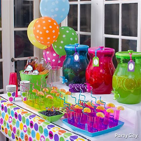 drink table decorating ideas colorful and fruity drinks table idea colorful