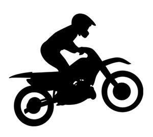 Wall Sticker Black Siluet Uk 60x90 sport silhouette motocross dirtbike rider car tablet
