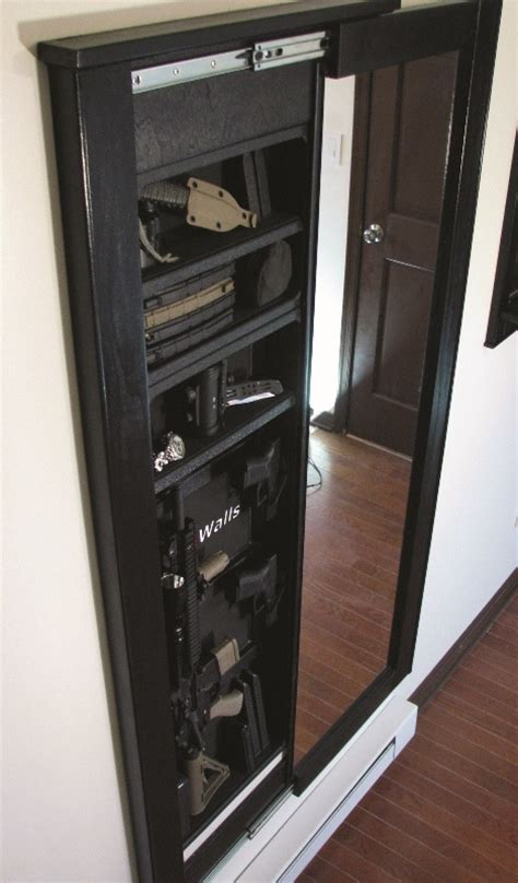 In Wall Gun Cabinet by Looks Like A Mirror But Its A Gun Cabinet