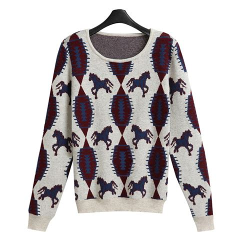 horse pattern jumper online get cheap horse pull aliexpress com alibaba group