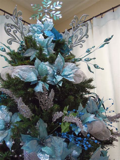 christmas trees tourquoise and silver seasontry turquoise and silver tree