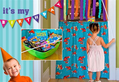 curtain game kid s birthday party quot something s fishy quot game curtain