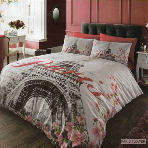 king single coverlet details about paris flower duvet cover quilt cover bedding