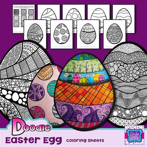 doodle easter egg easter egg doodle coloring pages instant digital
