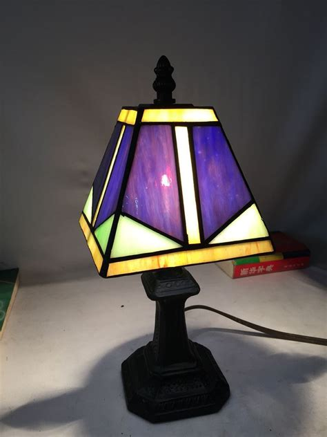 small bedroom lamps factory price tiffany lamps art deco purple stained glass 13244   Factory Price Tiffany Lamps Art Deco Purple Stained Glass Small Table Lamp Living Room Bedroom Studio