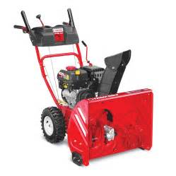 Troy bilt storm 2410 208cc 24 in two stage electric start gas snow