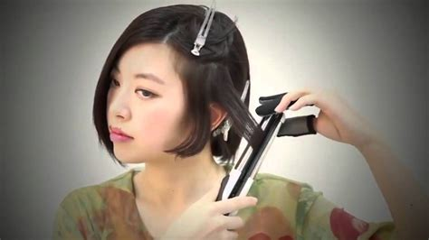 Korean Hairstyle Tutorial For Hair by Wavy Hair Tutorial With Straightener Asian