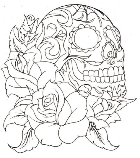 Skulls And Roses Coloring Pages skull and coloring pages coloring pages