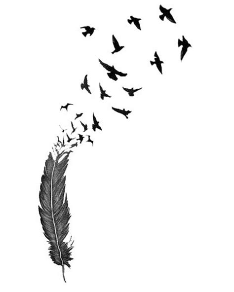 feather with birds flying out tattoo bird tattoos designs ideas and meaning tattoos for you