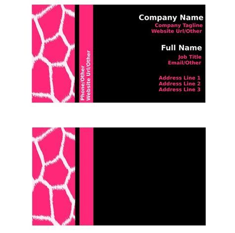 Maryland Pta Membership Card Template by 17 Best Images About 100 Creative Pink Business Cards For
