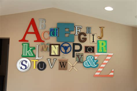 wall letters for room abc alphabet wall color made happy