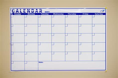 blank monthly calendar oversize calendar