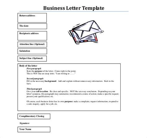 structure and layout of business letter business letter template 44 free word pdf documents