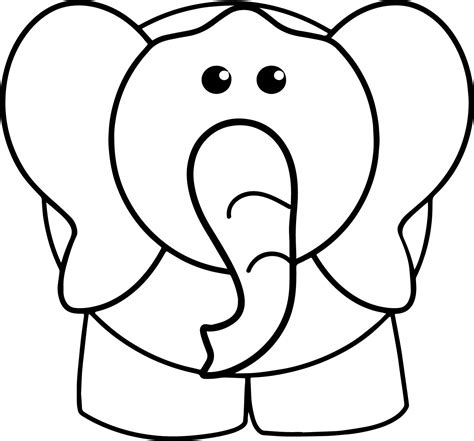 coloring book views elephant front view coloring page wecoloringpage