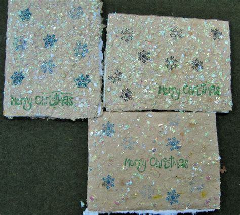 Sewn Cards Handmade - quot merry quot cards 4x6 inch handmade card white
