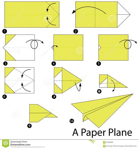Steps For A Paper Airplane - step by step how to make origami a paper