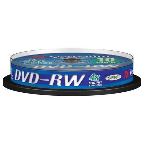 Dvd Rw Verbatim 4x 4 7gb verbatim dvd rw rewritable 4x 4 7gb bobina 10 unds