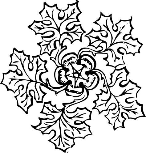 Junjung Drajat Hitam Simetris leaf decoration 2 black white line coloring