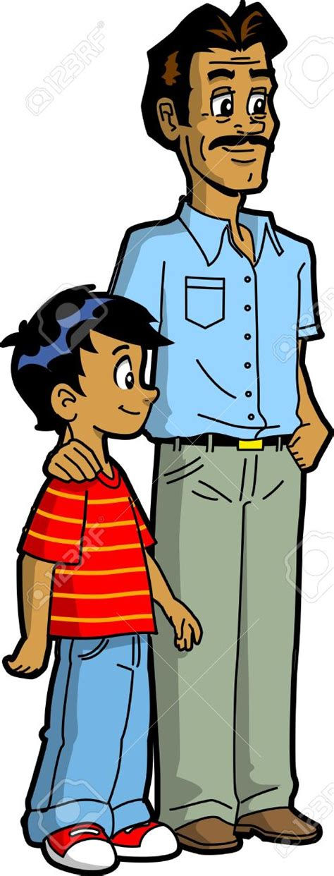 father and son cartoon indian family clipart 61