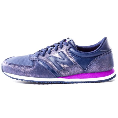 new shoes new balance wl 420 npb glam womens leather textile blue