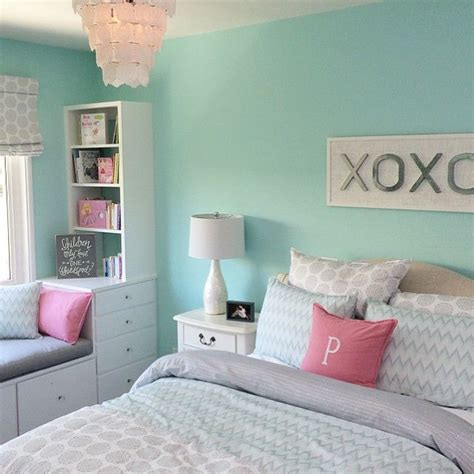 Paint Color Ideas For Girls Bedroom | the pink and grey look nice with the paint color eden s