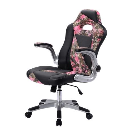 camo office chair pu leather high back executive office