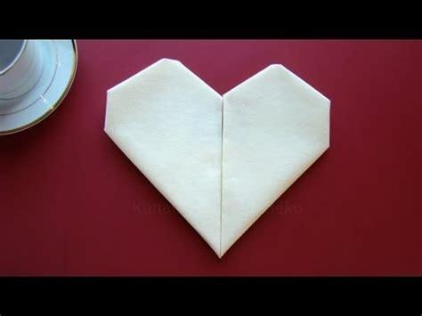 servietten falten herz einfache tischdeko zum muttertag