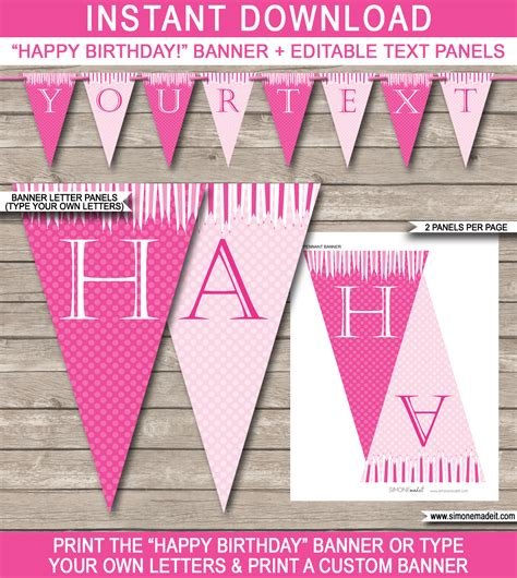 printable princess banner princess party banner template birthday banner