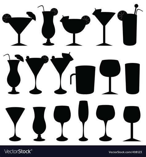 drink vector silhouette drinks royalty free vector image vectorstock