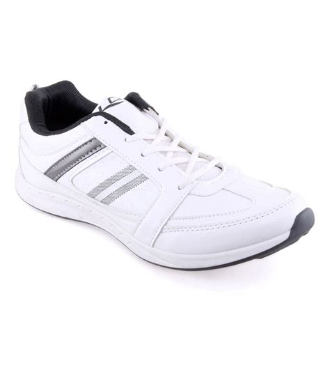 white leather sports shoes lancer white synthetic leather sport shoes price in india