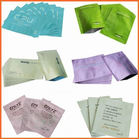 Masker Epoch Sachet custom printed aluminum pouch sle cosmetics sachet