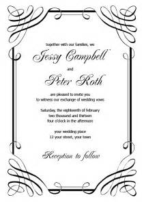 Invite Design Template by Blank Wedding Invitation Templates
