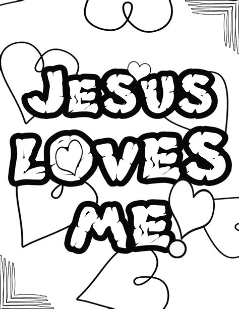 coloring pages jesus loves you let me be a blessing ministries jesus loves me coloring