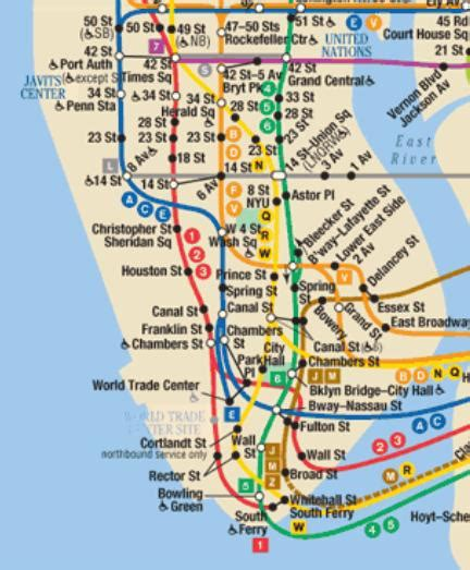 subway map of manhattan with streets subway map 171 avi s cogitations