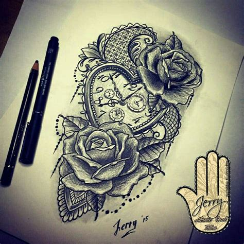 rose and clock tattoo meaning 25 best ideas about pocket tattoos on