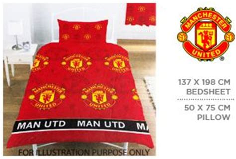 manchester united bed linen manchester united bed 137 x 198 cm pillow 50 x 75 cm