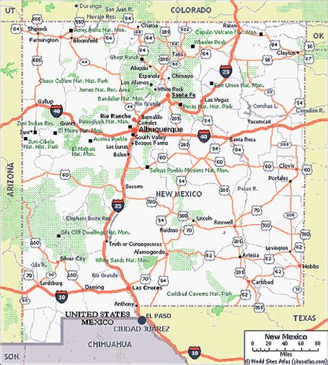 road map of texas and new mexico highway 80 coast to coast highway