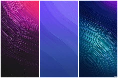 themes mi com mi mix 2 official theme star trail wallpapers collection