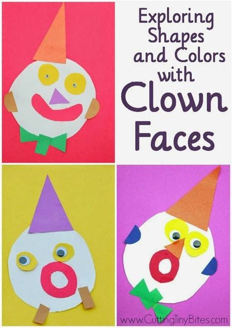 clown template preschool exploring shapes and colors with clown faces circus