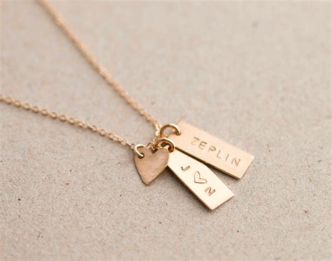 custom tag necklace personalized small tag necklace simple initial tag necklace