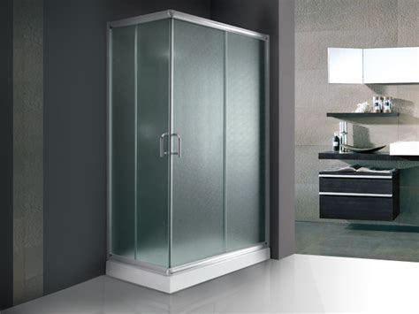 cabina doccia rettangolare box doccia cm 80x120 con ante scorrevoli in vetro opaco